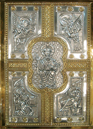 The Evangeliary (Book of the Holy Gospels) at Saint Benedict Church, http://saintbenedictparish.org/church/evangeliary.php