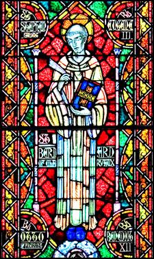 Saint Bernard of Clairvaux. Window from Saint Benedict Parish, Richmond, Virginia http://www.saintbenedictparish.org/church/stained_glass_bernard.php